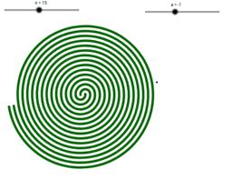 Spirale de demi-cercles