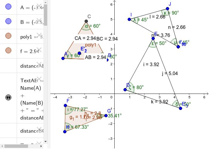 Osman Qureshi Geogebra Classifying Triangles