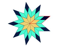 Rautenparkett - Sternfiguren