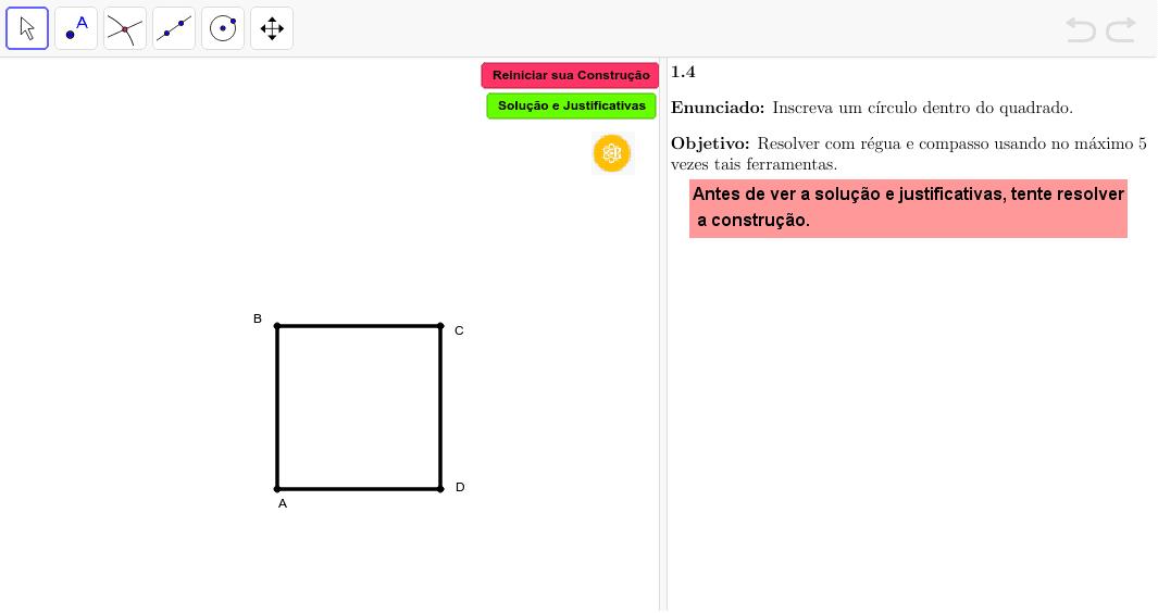 Euclidea 1.4 Press Enter to start activity