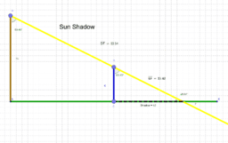 Shadows and Right Triangles