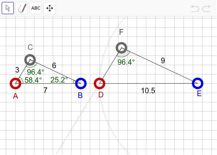 """과제6 다음 두 삼각형이 """"확대 또는 축소하여 합동(닮음)""""인지 판단하고, 그 이유를 설명하시오. 활동을 시작하려면 엔터키를 누르세요."""