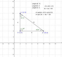 Distance Formula vs Pythagorean Theorem