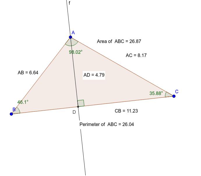 Interactive triangle
