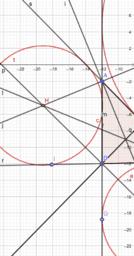 Excentro triangolo rettangolo.