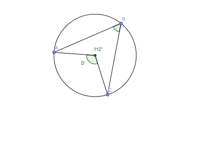 Find the measurement of the inscribed angle Press Enter to start activity