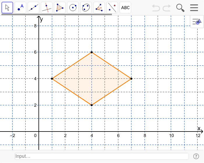 How many lines of symmetry does the rhombus have?