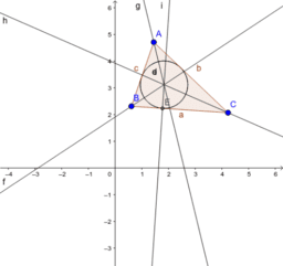CONSTRUCTION OF INCENTER OF A TRIANGLE