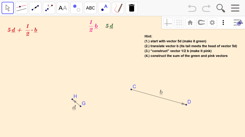 PRACTICE 5.  Operations with vectors  Press Enter to start activity