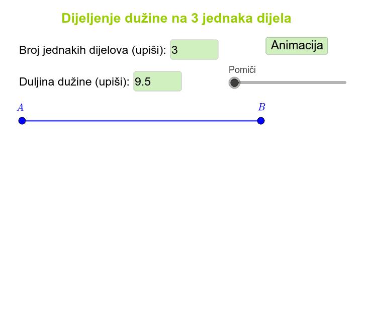 GeoGebra Applet Pritisnite Enter za pokretanje.