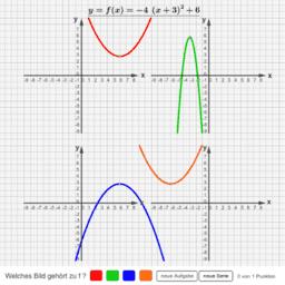 f(x)=a(x+d)²+e