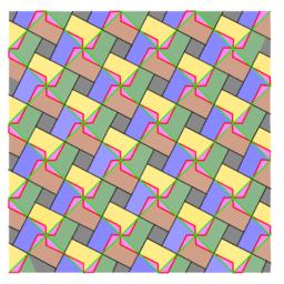 Pythagorean Theorem by Tessellation # 79b Tiling