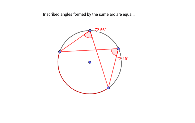 Same Arc Inscribed Angles