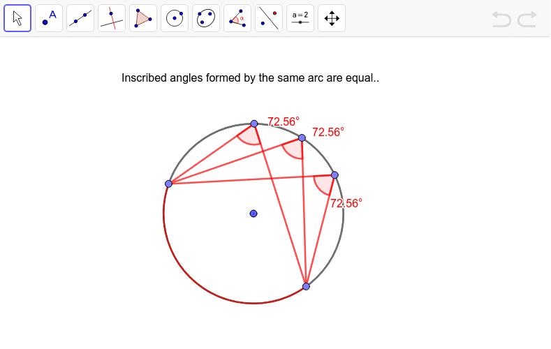 Same Arc Inscribed Angles