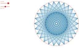 Polígonos regulares anidados