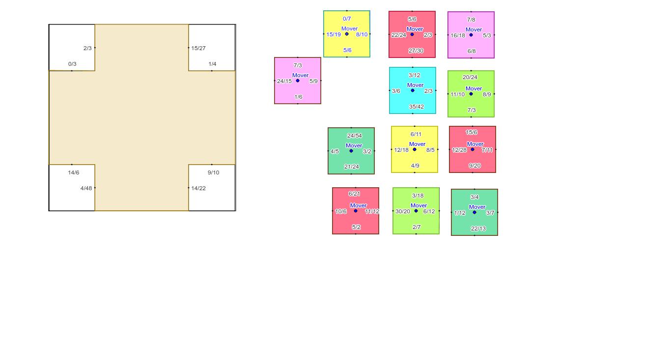 Encaje las fracciones equivalentes en cada caso