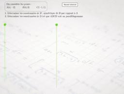 Coordonnées du symétrique d'un point