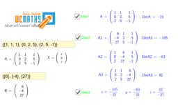 ม.5 Metric Cramer's Rule