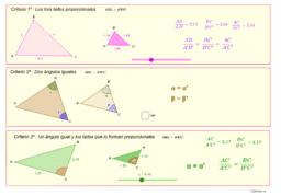 Semejanza de triángulos (criterios)