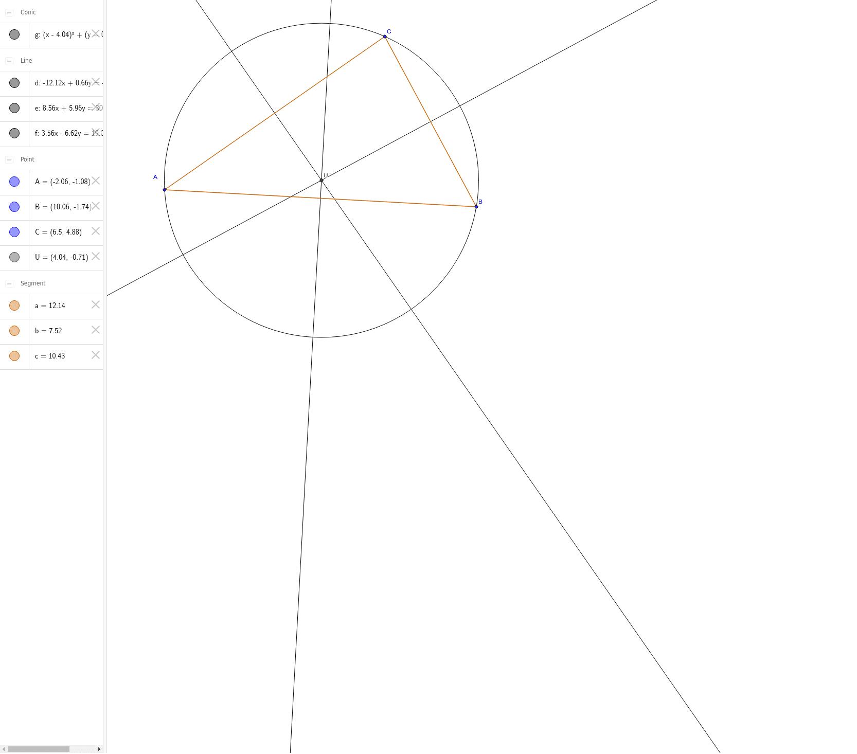 Umkreismittelpunkt Drücke die Eingabetaste um die Aktivität zu starten