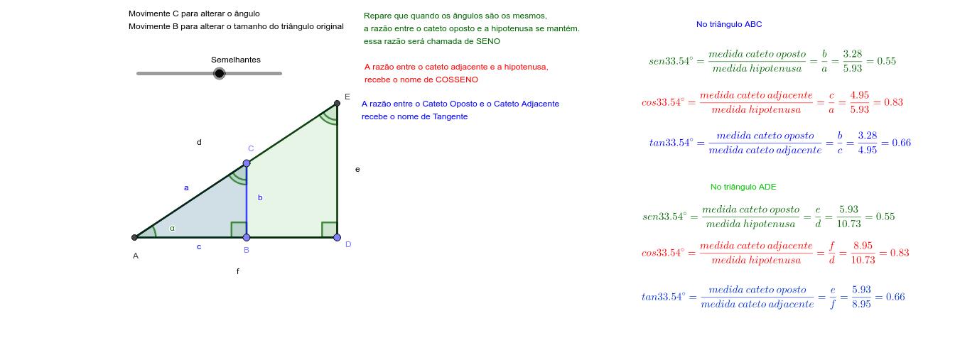 Lembrando as razões trigonométricas Press Enter to start activity