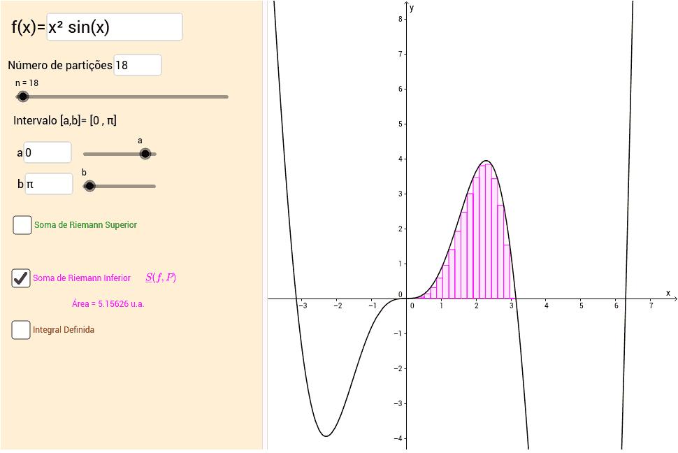 Somas de Riemann e Integral Definida