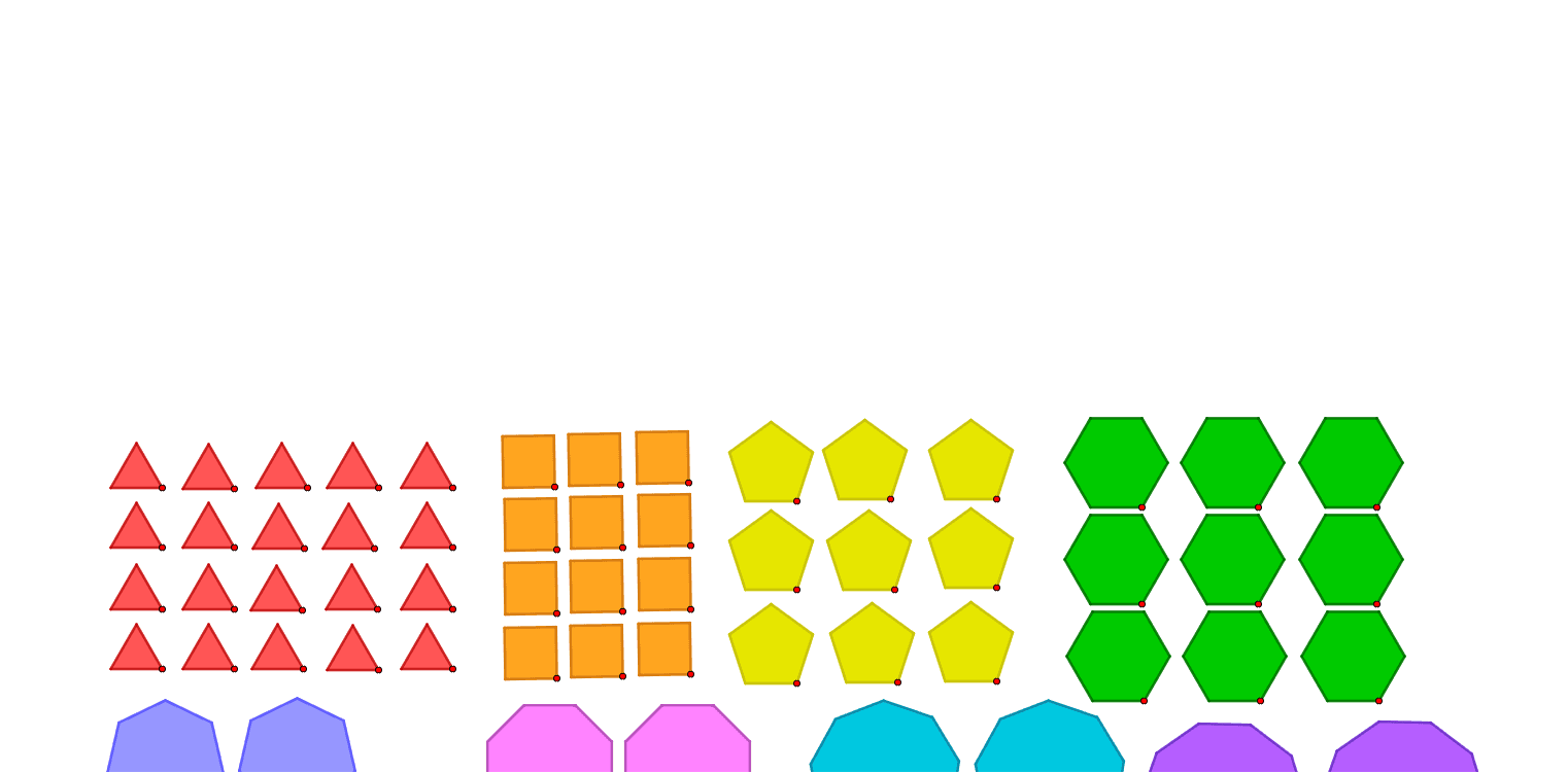 How many tilings of the plane are possible using regular polygons? Press Enter to start activity