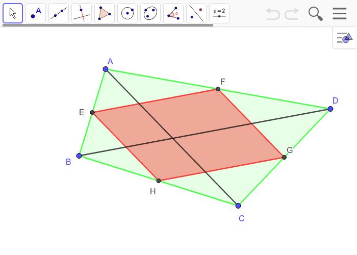 ¿Qué caracteristicas tiene que tener el cuadrilátero ABCD para que el paralelogramo de Varignon sea un rombo?