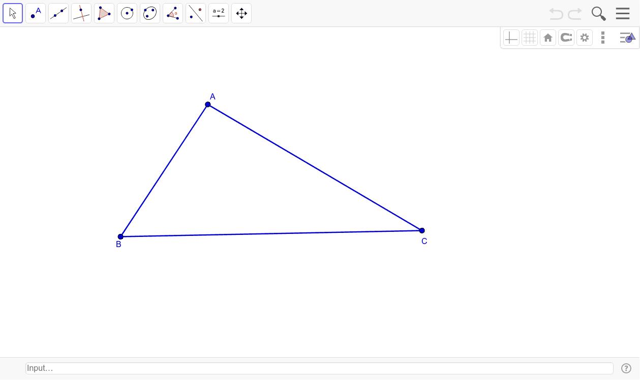 Encontrar o incentro (S) do triângulo ABC e traçar a circunferencia inscrita.(Encontre os pontos E1,E2,E3 )