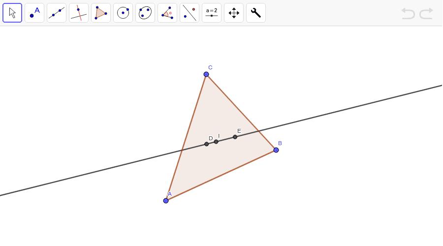 La recta de Euler. Presiona Intro para comenzar la actividad