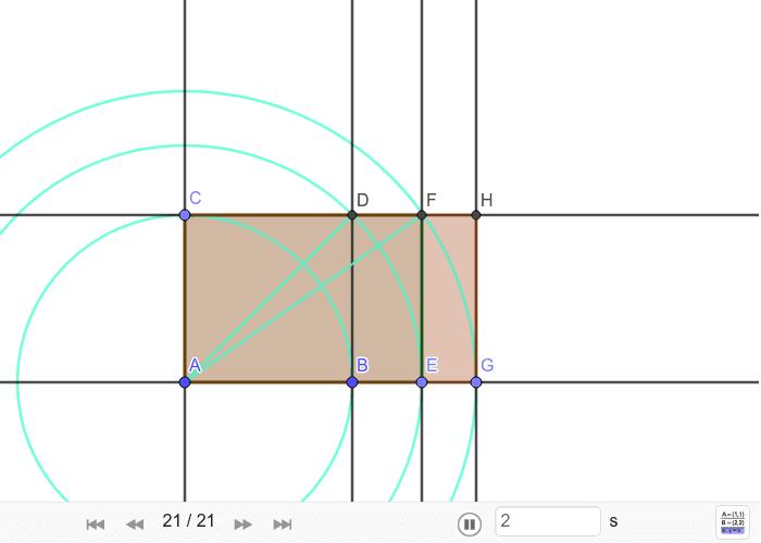 Konstrukcija sikstona ili pravokutnika √3 Pritisnite Enter kako bi započeli aktivnost
