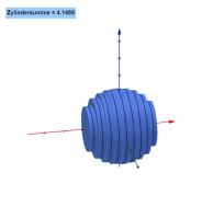 Kugel und parallele Kreise (Zylinder)