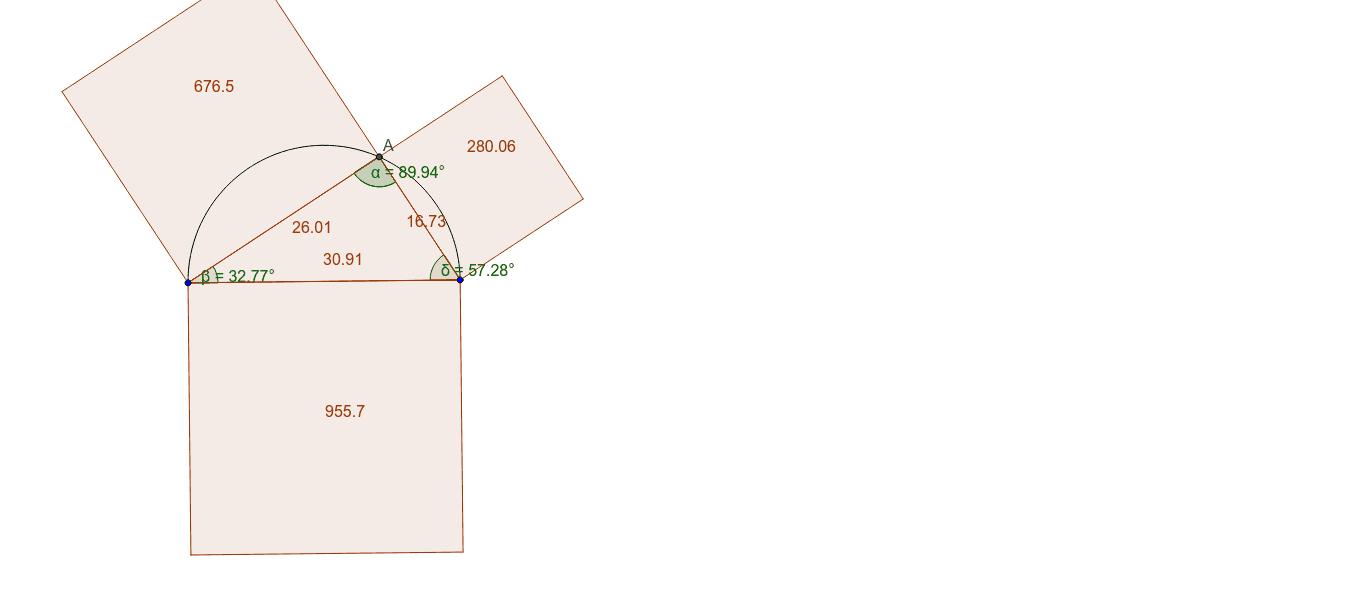 Versleep één van de hoeken van de driehoek. Als je punt A op de halve cirkel plaatst heb je ongeveer een hoek van 90°.