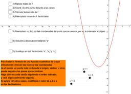 fórmula de función cuadrática