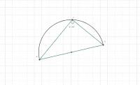 Ángulo inscrito en una semicircunferencia