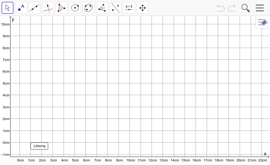 Dreieck 4: A(4/1), B(8/0), C(16/5): Zeichne das Dreieck und konstruiere den Umkreis. Füge den Screenshot der Koordinaten von U im Auftrag in Teams ein! Drücke die Eingabetaste um die Aktivität zu starten