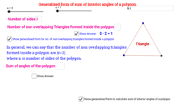 Sum of int angles of a polygon