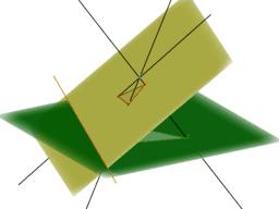 Démo du Théorème de Desargues - Via une perspective