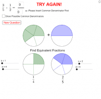 Adding Fractions using Fraction Circles Tasks