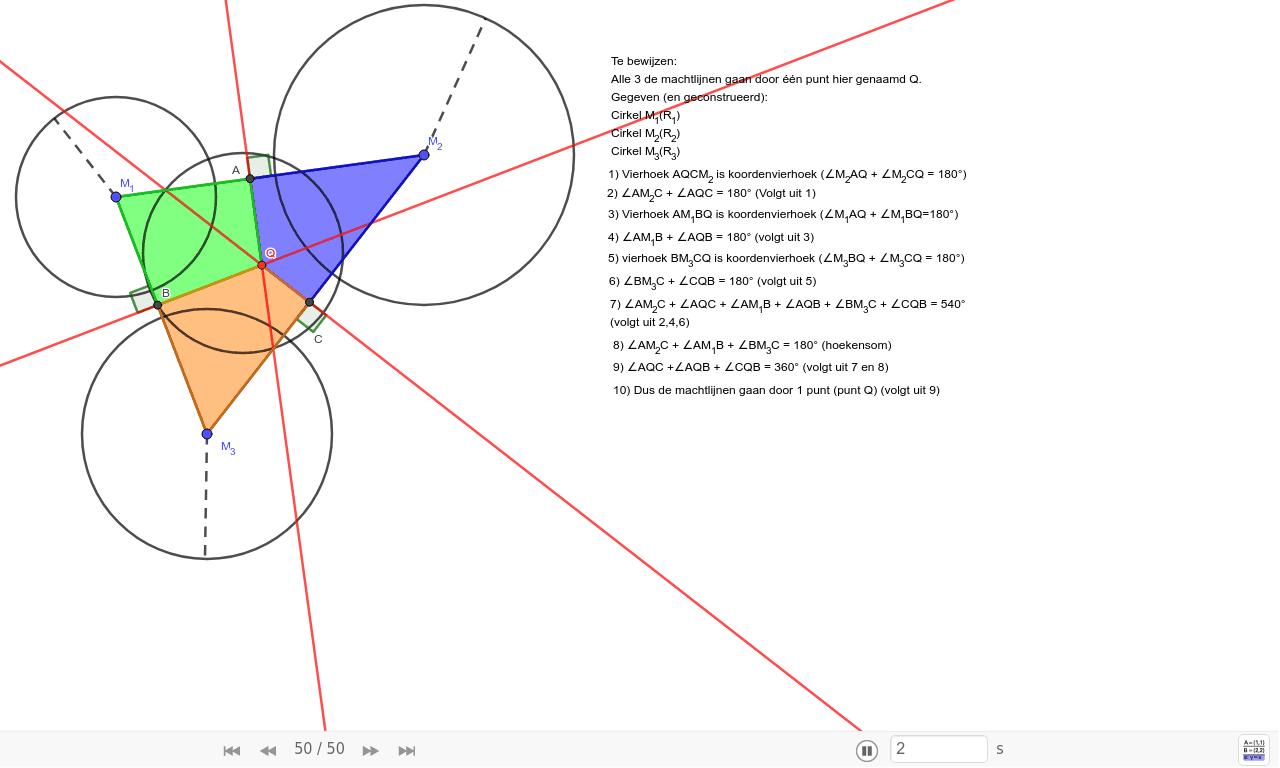Machtslijnen door één punt deel 2