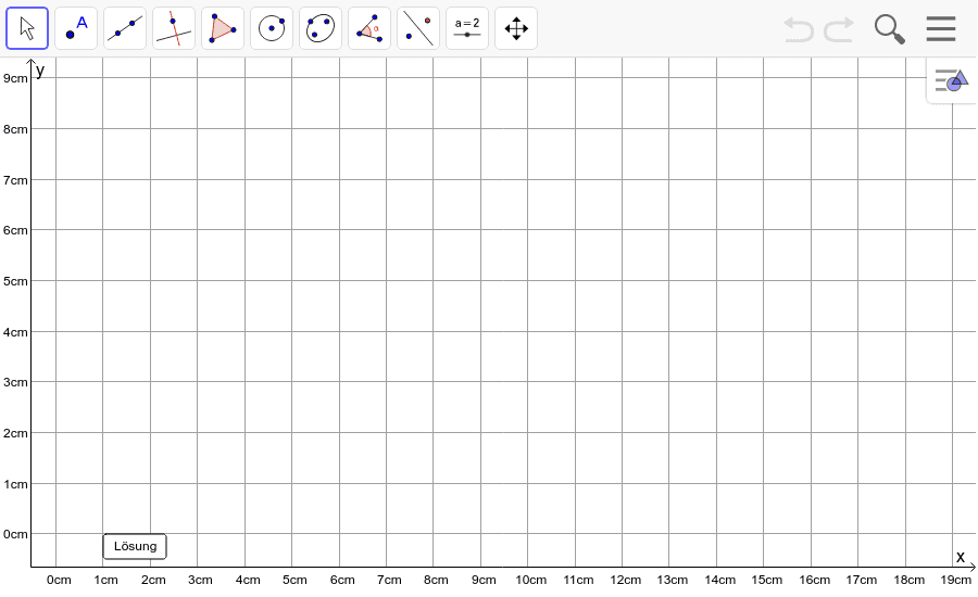 Dreieck 2: A(2/3), B(11/4), C(7/8): Zeichne das Dreieck und konstruiere den Umkreis. Füge den Screenshot der Koordinaten von U im Auftrag in Teams ein! Drücke die Eingabetaste um die Aktivität zu starten