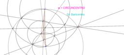 Contrucción de baricentro y circuncentro