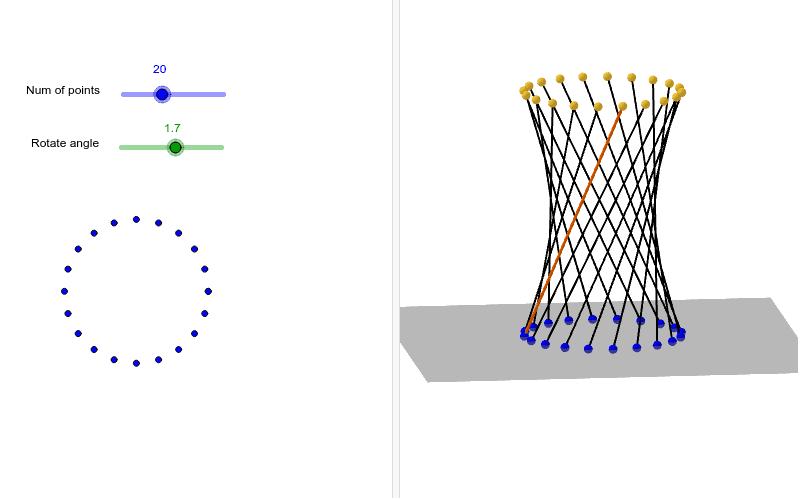 雙曲面Hyperboloid 按 Enter 鍵開始活動