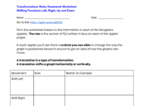 Worksheets for Transformations Section