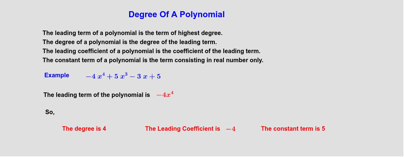 """Degree Of Polynomial Tapez """"Entrée"""" pour démarrer l'activité"""