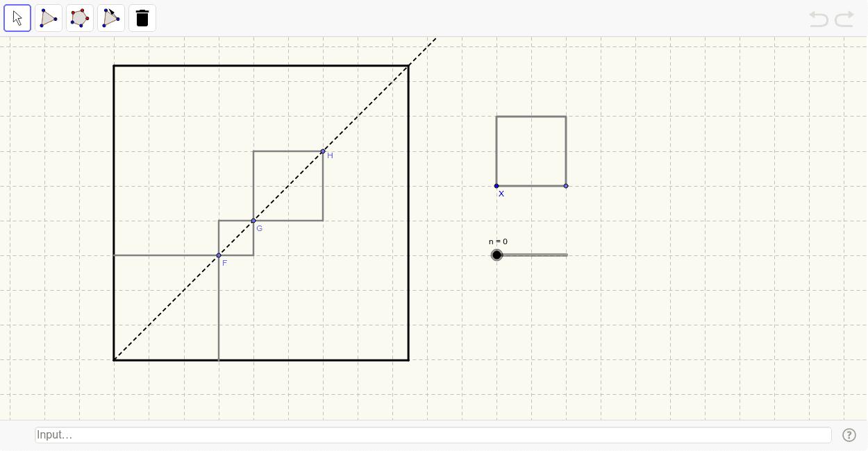 Squares on the Diagonal Press Enter to start activity
