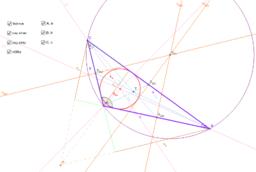 Přímky a úsečky v trojúhelníku