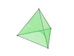 Tetrahedron String Art