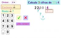 Divide por una cifra sacando decimales