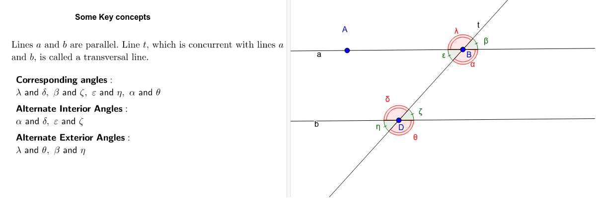 Angles determined by parallel and transversal lines Press Enter to start activity